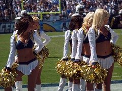 Two Minute Warning (MathgeekTodd) Tags: football cheerleaders geocoded olympus sep 2007 chargers e500 40150mm cotcmostinteresting interestingness433 chargergirls vsbears