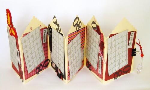 Calendario a fisarmonica