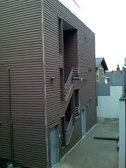 N building painting in progress