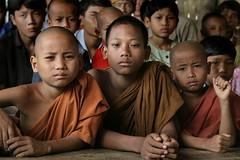 little Buddhas - piccoli Budda (janchan) Tags: portrait kids children asia bambini documentary monastery myanmar tribe ritratto bangladesh monastero reportage bonzo marma etnico monaci birmania buddismo chittagonghilltracts flickrdiamond whitetaraproductions thegalleryoffineportraitphotography
