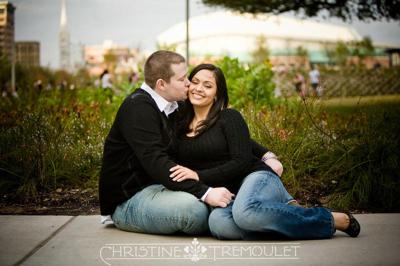 Erika & Nick - Engagement Photography, Discovery Green, Houston Texas