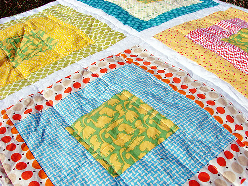 take-along quilt: up close