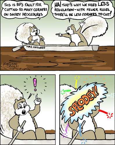 Explosion is CG--No Squirrels were hurt in the production of this cartoon...