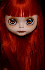 Waterfall of Red (Zaloa27) Tags: art doll blythe freckles custom redhair modmolly handpaintedeyechips zaloa27