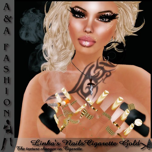 A&A Fashion Linka's NailsCigarette Gold