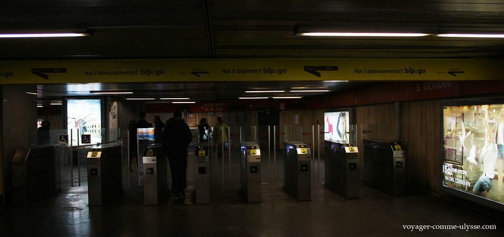 Tourniquets du métro