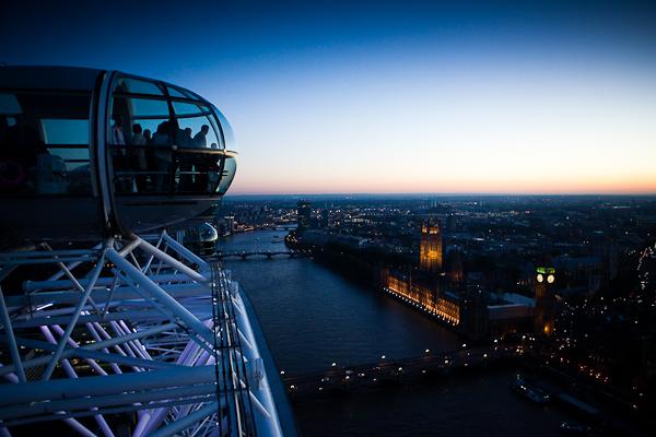 Vue sur Big Ben depuis la London Eye