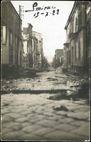 Yangından sonra İzmir. 19 Eylül 1922