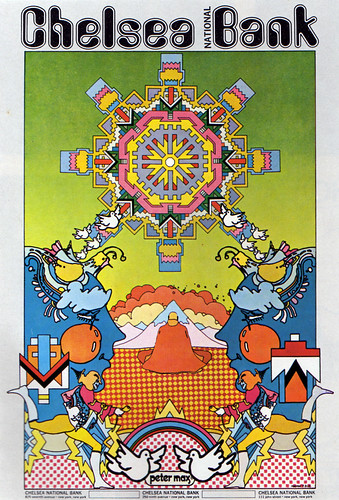 1970s Advertising - Poster - Peter Max Chelsea National Bank (USA)