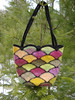 Felted Stained Glass Fan Bag