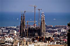 Sagrada Familia (organiq) Tags: barcelona sea españa color mar spain europa europe explore panoramica gaudi catalunya sagradafamilia cataluña organik explored sagratefamily