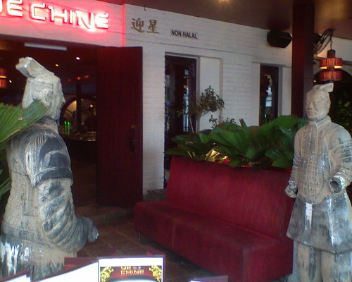 Outside Ye Chine restaurant