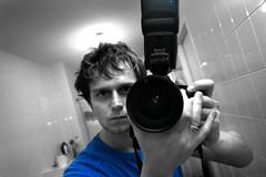 Self (matthijs rouw) Tags: blue selfportrait me self canon cutout bathroom eos 350d mirror flash tokina1224 tokina 1224mm 580exspeedlite tokina1224mm tokinaatx124afprodx1224mmf4 tokinaaf1224mmf4atxprodx