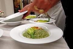 Carnaroli in risotto al verde con fiori di zucchine ...