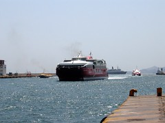 Highspeed 2, F/D Hermes and Flying Cat 3 (Dimitris G.) Tags: sea ferry port boat ship hellas greece piraeus flyingdolphin  highspeed2 hellenicseaways  aegeanflyingdolphins fdhermes flyingcat3