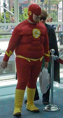 fat suit flash (hellboarder) Tags: funny sandiego flash comiccon 2007 sdcc sdcc07
