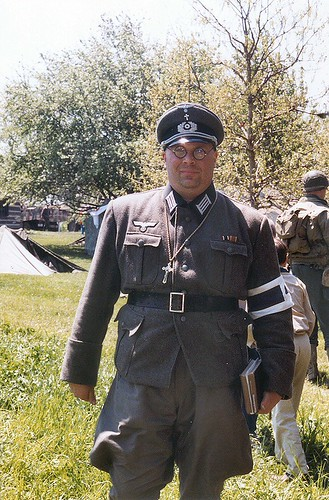 German Chaplain, WWII reenactor