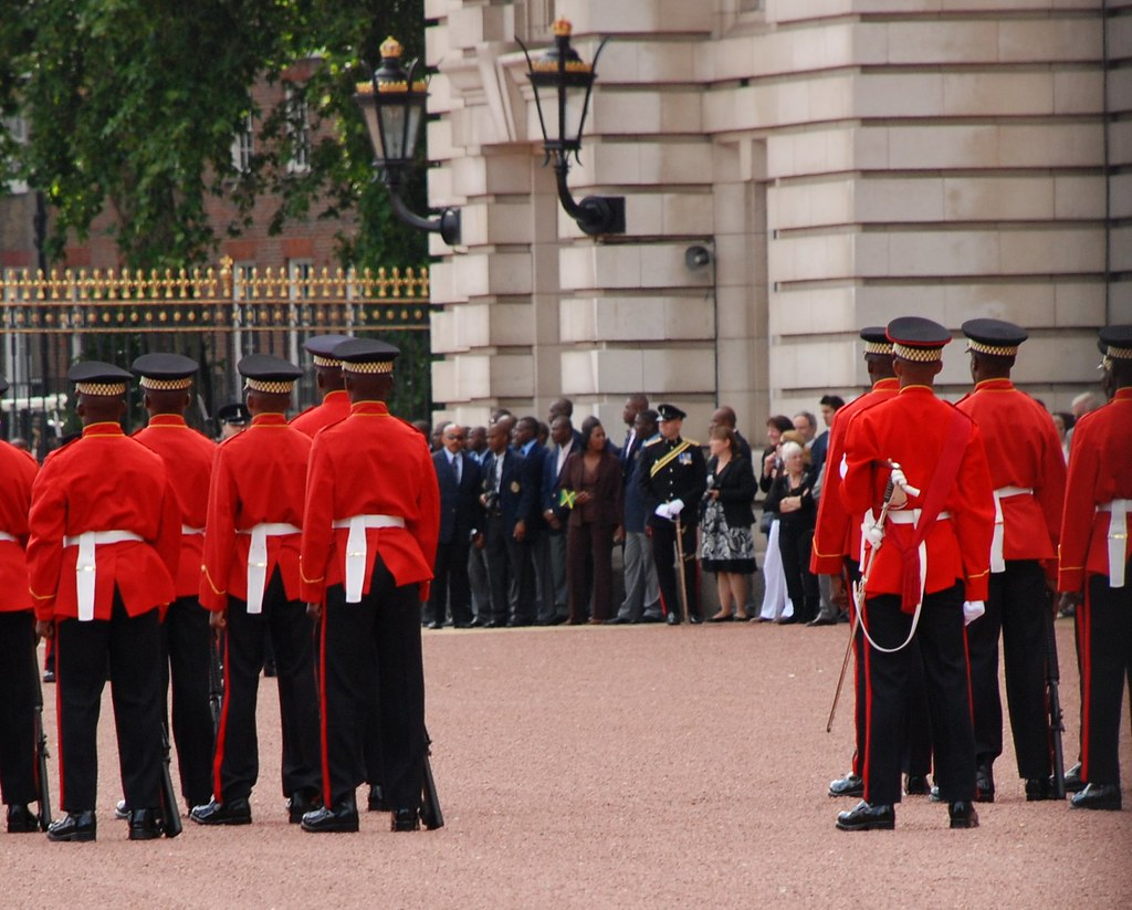 Buckingham Palace - Dignitaries and the Jamaican Flag