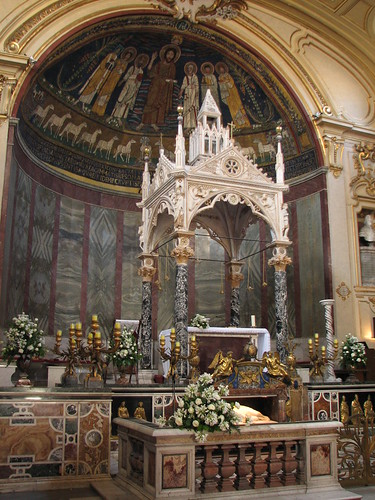 The confessio & altar of St Cecilia's