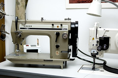 New Sewing Machine Day (Adam A.) Tags: industrial singer sewingmachine zigzag zugster 20u33