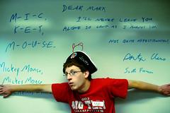 Day 15 - Captain Scott (margolove) Tags: red hat glasses arm whiteboard pirate margo margolove