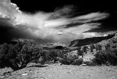 Storm Front Comes to Capitol Reef (Bodie Bailey) Tags: clouds landscape utah blackwhite nationalpark desert roadtrip kodachrome capitolreef soe bwemotions abigfave bwartaward