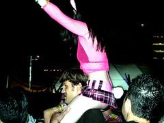 pinkgirl1 (viyh) Tags: pink girl festival losangeles nocturnal crowd wonderland 2007