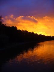 Towards the starry sky (Lalallallala) Tags: sunset finland spectacular golden helsinki colourful pitkäsilta