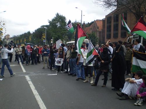 Marcha apoyo a Palestina / Gaza en Bogotá, Colombia - 20090106 - 1061809