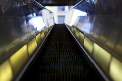 Escalation (thegreatsultan) Tags: seattle stairs bokeh escalator bustunnel