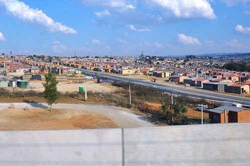 View of Alexandra from Gautrain
