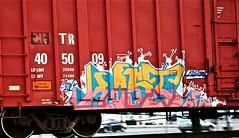 IMG_6033 (mightyquinninwky) Tags: railroad graffiti tag graf tracks railway tags tagged railcar rails etc boxcar graff graphiti freight kost trainart fr8 railart boxcarart freightart taggedboxcar paintedboxcar paintedrailcar taggedrailcar