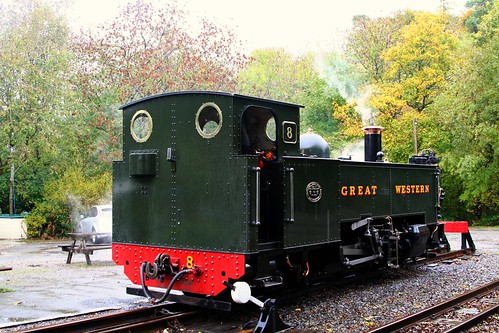 Vale of Rheidol #8 rests at Devil
