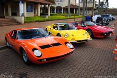 Miura, Dino & 308GTS (DaniloBReis) Tags: old red orange classic cars yellow minas gerais shot dino sony laranja mg vermelho amarelo exotic lamborghini cyber horizonte bh gts belo lambo miura 308 alphaville h50 v12ferrari