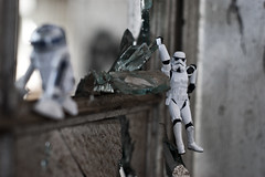 Even At The Precipice (evaxebra) Tags: new storm trooper glass mexico toy toys eva albuquerque rail r2d2 nm railyard ewa xebra evaxebra