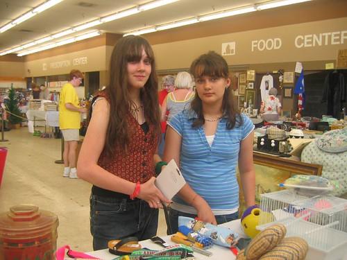 Girls at Buddy Sale