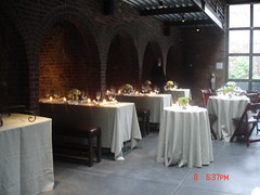 April Wedding (The Foundry L.I.C.) Tags: day archways railings thefoundry foldingchairs tourbook alcoves dinnertables naturallydelicious thefoundryinterior thefoundrylic naturallydeliciouscatering
