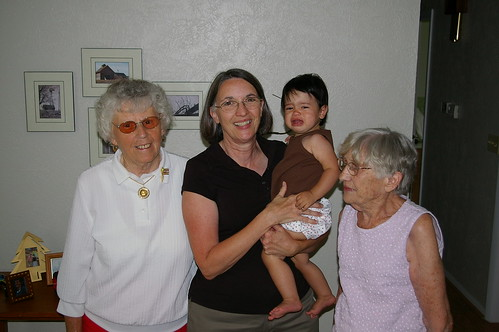 Rachel, Grandma, and Great-Grandmas