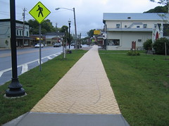 Yellow Brick Sidewalk
