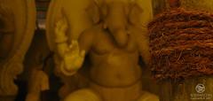 in making... (mangeshonline) Tags: sculpture yellow statue ganesha god lord making ganapati ganpati murti mangesh lalbaug aqshar ganeshtosav