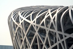 Roof Of The Nest (China Chas) Tags: china roof architecture construction stadium steel beijing engineering olympic hdm 2008 herzogdemeuron birdsnest 2007 nationalstadium arup 70210mm arupsport