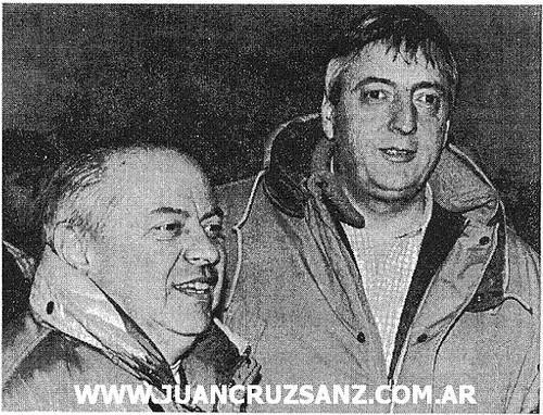 Néstor Kirchner y Carlos Corach
