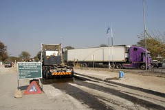 TRUCKING IN BOTSWANA (Claude  BARUTEL) Tags: africa truck border transport botswana trucking scania customs