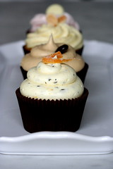 orange rosemary cupcake with pine nuts