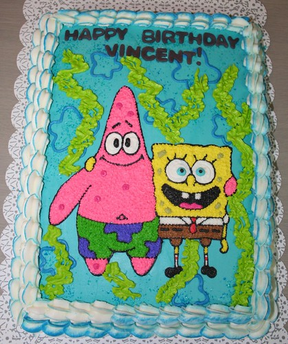 sponge bob wallpapers. Sponge Bob and Patrick Cake