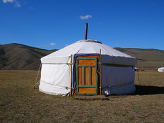 Khan Khentii Ger Camp at Jalnan Meadows, Ulan Bator, Mongolia (AJoStone) Tags: mongolia siberia yurt ulanbator ger