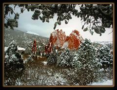 New snow for 2009... (Colorado Scenics) Tags: landscape rockies scenic gardenofthegods coloradosprings rockymountains frontrange gog olympusc8080wz c8080wz c8080 p1010037 elpasocounty