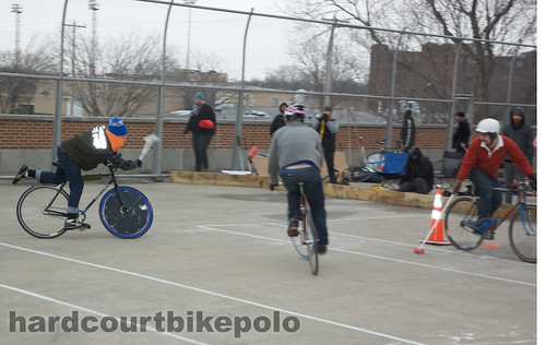 Jake MKE scores on Ben MAD hardcourt bike polo