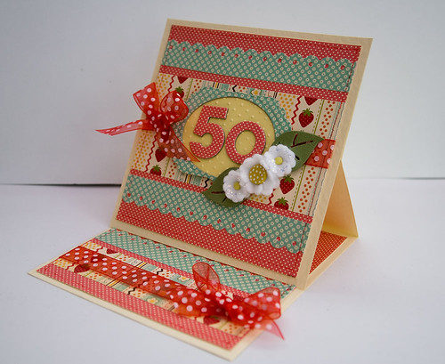 Easel 50th Birthday Card