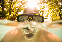 Magnify (David Parks - davidparksphotography.com) Tags: camera sun david oklahoma me water nikon underwater goggles parks sigma bubbles sp proof d200 1020mm edmond waterproof